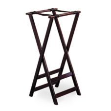 "Tablecraft 21 32"" Tall Mahogany Finish Teak Wood Tray Stand"