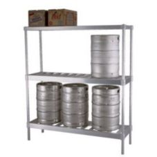 New Age Industrial 1289 Aluminum 10 Keg Capacity Beer Keg Rack