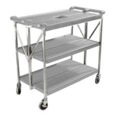 Carlisle® SBC203123 Fold 'N Go® Large Gray Cart