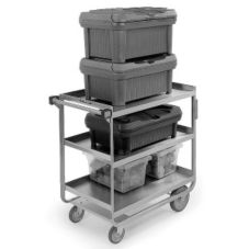"Lakeside® 522 S/S HD 700 lb Capacity 18"" x 27"" 3-Shelf Cart"