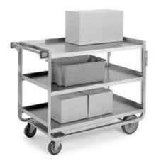 Lakeside® 944 S/S 1000 lb Capacity 3-Shelf Utility Cart