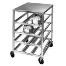 Mobile Aluminum Half Size Storage Rack for #10 Cans