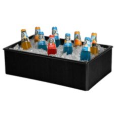 Gourmet Display® 20 x 12 Black Folding Beverage Housing