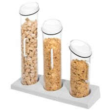Gourmet Display® Acrylic 3 Tube Cereal Dispenser
