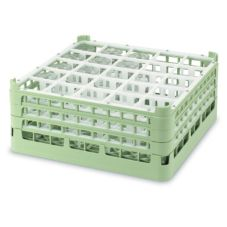 Vollrath 5277411 Light Green Full Size Tall 25-Compartment Glass Rack