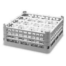Vollrath 5272162 Gray Full Size XX-Tall 16-Compartment Glass Rack