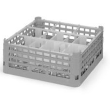 Vollrath 5276166 Gray Full Size Medium Plus 9-Compartment Glass Rack