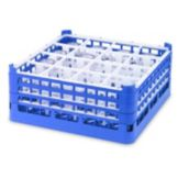 Vollrath 5276777 Royal Blue Full Size Medium 16-Compartment Glass Rack