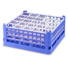 Full Size Tall Plus 25-Compartment Glass Rack, Royal Blue