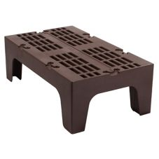 "Cambro DRS360131 Dark Brown 21"" x 36"" x 12"" Slotted Top Dunnage Rack"