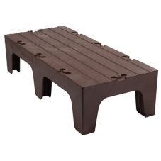 "Cambro® DRS48131 Dark Brown 21"" x 48"" x 12"" Solid Top Dunnage Rack"