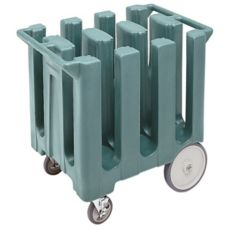 "Cambro DC700401 Slate Blue 7"" Max Plate Size Fixed 6-Column Dish Caddy"