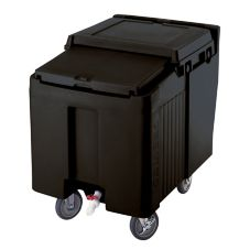Cambro ICS125L110 Black Standard Height SlidingLid 125 Lb. Ice Caddy