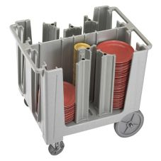Cambro Speckled Gray Adjustable 4 or 6-Column Dish Caddy