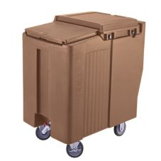 Cambro® ICS175T157 Coffee Beige Tall SlidingLid 175 Lb. Ice Caddy