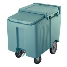 Cambro ICS125L401 Slate Blue Standard SlidingLid 125 Lb. Ice Caddy