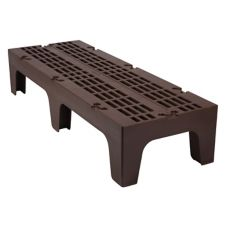 "Cambro DRS600131 Dark Brown 21"" x 60"" x 12"" Slotted Top Dunnage Rack"