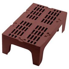 "Cambro DRS300131 Dark Brown 21"" x 30"" x 12"" Slotted Top Dunnage Rack"
