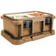 "Cambro UPC160157 Coffee Beige Ultra Pan Carrier for 6"" Deep Pans"