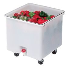 Cambro® CC32148 White 32 Gal Camcrisper® Bin with Draw Shelf