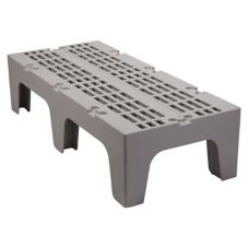 "Cambro DRS480480 Sp. Gray 21"" x 48"" x 12"" Slotted Top Dunnage Rack"
