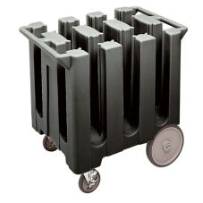 Cambro Black Fixed 6-Column Dish Caddy, Max Plate Size 5-3/4""