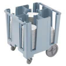 Cambro DCS950401 Slate Blue Square and Round Fixed 4-Column Dish Caddy