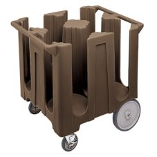 Cambro® DC1225131 Dark Brown Fixed 4-Column Dish Caddy