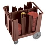Cambro® ADCS131 Dark Brown Adjustable 4 or 6-Column Dish Caddy
