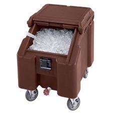 Cambro ICS100L131  Brown Standard 100 Lb. Cap. SlidingLid Ice Caddy