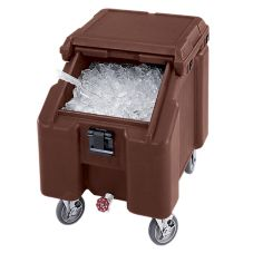 Cambro ICS100L131 Dk Brown Standard 100 Lb. Capa. SlidingLid Ice Caddy