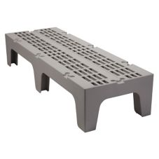 "Cambro DRS600480 Sp. Gray 21"" x 60"" x 12"" Slotted Top Dunnage Rack"