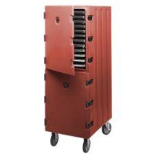 Cambro 1826DTC402 Brick Red Double Comp. Tray / Sheet Pan Camcart