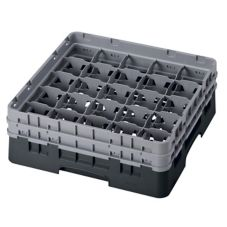 Cambro 25S534110 Black Camrack® Full Size Glass Rack for Glasses