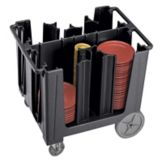 Cambro® ADCS110 Black Adjustable 4 or 6-Column Dish Caddy