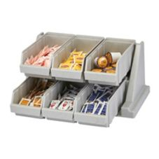 Cambro® 6RS6480 Versa Speckled Gray 6-Bin Organizer Rack