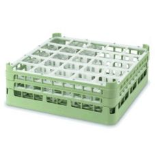 Vollrath 5271111 Light Green Full Size Tall 25-Compartment Glass Rack