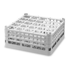 Vollrath 5277466 Gray Full Size Tall Plus 25-Compartment Glass Rack