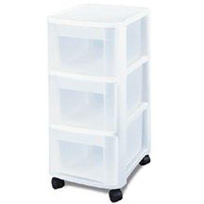 sterilite 3 drawer cart w wheels ebay