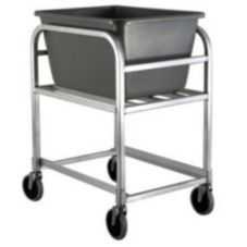 New Age 1275 Aluminum Bulk Cart with Gray 2.25 Bushel Baskets