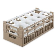 Vollrath® 5281020 Cocoa Half Size Short 10-Compartment Glass Rack