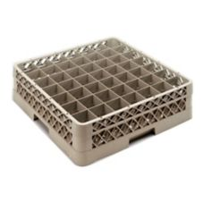 Vollrath TR9E Traex Beige 49 Compartment Glass Rack with 1 Extender