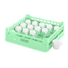 Full Size Medium 20-Compartment Cup Rack, Light Green