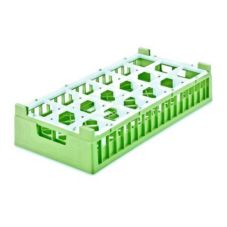 Vollrath® 5282311 Light Green Half Size 18-Compartment Glass Rack