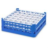 Vollrath 5271477 Royal Blue Full Size Medium 36-Compartment Glass Rack