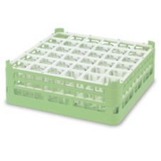 Vollrath 5271611 Light Green Full Size Tall 36-Compartment Glass Rack