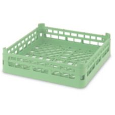Full Size Short Open Dish Rack, Light Green, 20 x 20 x 4-1/8