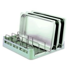 Vollrath 5266910 Light Green Standard Open End Pan Rack with Insert
