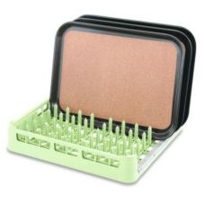 Full Size Open End Rack w/ Channel, Light Green, 20 x 20 x 3-3/4 H
