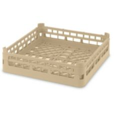 Full Size Short Open Dish Rack, Cocoa, 19-3/4 x 19-3/4 x 4-1/8